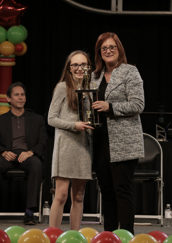 Stephanie Brown, 1st place Society of Women Engineers, 1st place Texas AWWA/WEAT Excellence in Water, Stockholm Junior Water Prize, Austin Geological Society Award, CSISD Superintendent award, Environmental and Engineering Science Category winner, Best in fair award at the Austin Regional Science Festival, Austin, TX February 2018